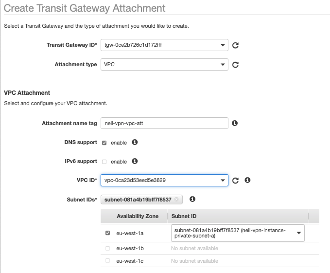 fig. 12, AWS TGW attachment