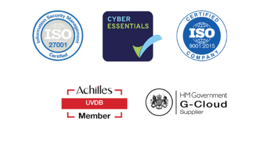 ISO, HM G-cloud accredited